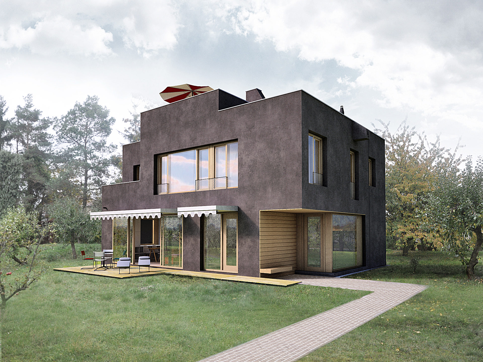 Einfamilienhaus in slivenec apropos architects for The family house